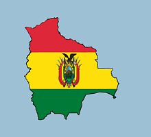 Bolivia Map with Bolivian Flag Unisex T-Shirt
