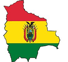 Bolivia Map with Bolivian Flag Photographic Print