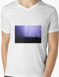 Lighting Mens V-Neck T-Shirt