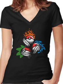Life's Hardest Choice Women's Fitted V-Neck T-Shirt