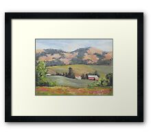 Hillside Farm Framed Print