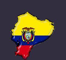 Ecuador Map With Ecuadorean Flag Unisex T-Shirt
