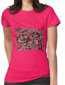 Morning Glory, retro image Womens Fitted T-Shirt