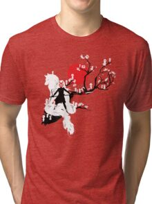Japanese Wolf Tri-blend T-Shirt