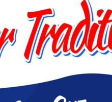 Pier Tradition Red, White and Blue Bottle Cap Sticker