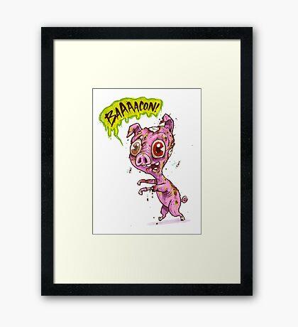 Pork Zombie Framed Print