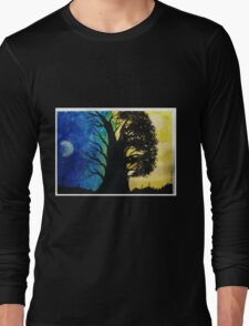 A Contrast in Light and Color Long Sleeve T-Shirt