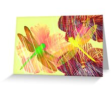 Orchids Orchids Dragonflies Greeting Card