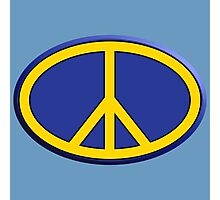 Oval hippie peace sign Photographic Print