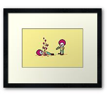 Clown death Framed Print