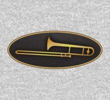 Gold trombone sign Baby Tee