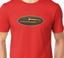 Gold trombone sign Unisex T-Shirt
