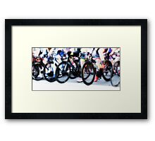 Legs on Wheels Framed Print