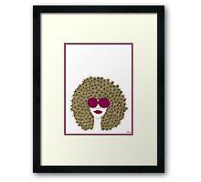 Afro girl Framed Print
