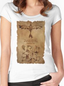DaVinci's Dragon (Hiccup's Sketchbook) Women's Fitted Scoop T-Shirt