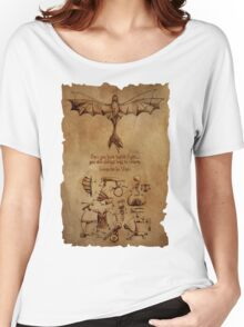 DaVinci's Dragon (Hiccup's Sketchbook) Women's Relaxed Fit T-Shirt
