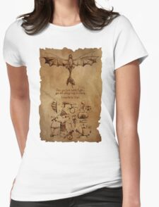 DaVinci's Dragon (Hiccup's Sketchbook) Womens Fitted T-Shirt