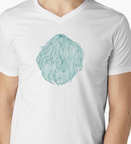 Green hair bubble Mens V-Neck T-Shirt