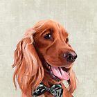 Mr. English Cocker Spaniel portrait by Sparafuori