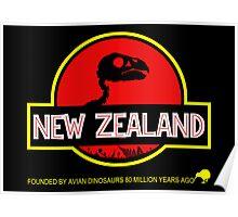 New Zealand: Kakapo Skull Poster