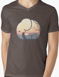 Elephant Sunset Mens V-Neck T-Shirt