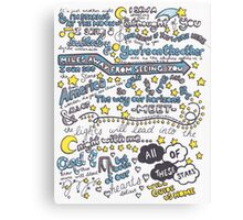 All of the Stars Lyrics Canvas Print