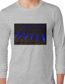 City Night Walks – Blue Highlights Facade Long Sleeve T-Shirt