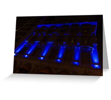 City Night Walks – Blue Highlights Facade Greeting Card