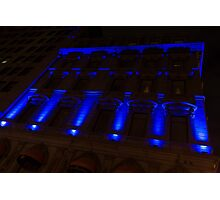 City Night Walks – Blue Highlights Facade Photographic Print