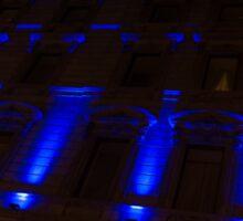 City Night Walks – Blue Highlights Facade Sticker