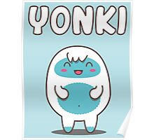 Yonki The Kawaii Yeti Poster