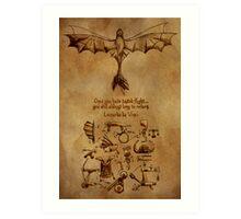 DaVinci's Dragon (Hiccup's Sketchbook) Art Print