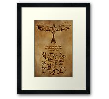 DaVinci's Dragon (Hiccup's Sketchbook) Framed Print