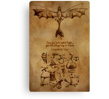 DaVinci's Dragon (Hiccup's Sketchbook) Canvas Print