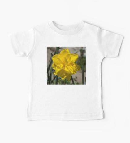 Sunny Yellow Spring - a Golden Double Daffodil Baby Tee