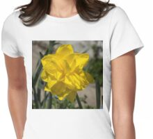 Sunny Yellow Spring - a Golden Double Daffodil Womens Fitted T-Shirt