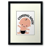 Baby coming soon Framed Print