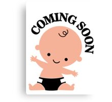 Baby coming soon Canvas Print