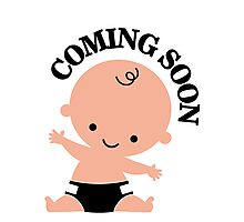 Baby coming soon Photographic Print