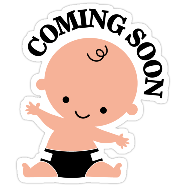 """""""Baby coming soon"""" Stickers by nektarinchen 