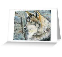 The Grey (but Colorful) Wolf Greeting Card