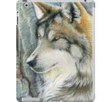 The Grey (but Colorful) Wolf iPad Case/Skin