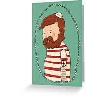 sad little sailor (in full colour) Greeting Card