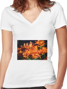 Fire lily Women's Fitted V-Neck T-Shirt