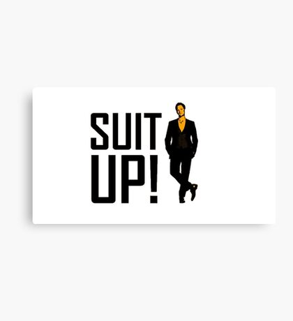 "How I met your mother ""Suit up"" of Barney Stinson Canvas Print"