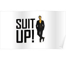 "How I met your mother ""Suit up"" of Barney Stinson Poster"