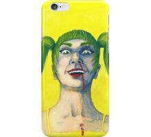 Crazy Girl in Yellow iPhone Case/Skin