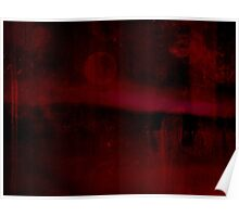 Abstract - Red Landscape Poster