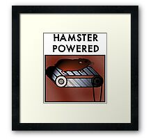 Hamster powered Framed Print