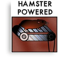 Hamster powered Canvas Print